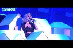 ¿Políticamente correcto? Katy Perry interpretó 'Chained to the rhythm' en los Brit Awards… ¡Y parodió a Trump con un esqueleto!