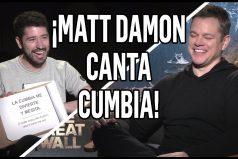 Matt Damon revela detalles de la filmación de 'La Gran Muralla'… ¡Y canta cumbia argentina!