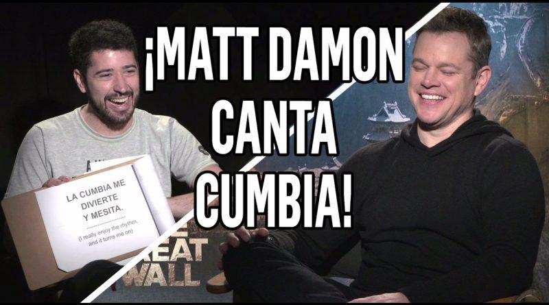 MATT-DAMON-CANTANDO-CUMBIA-El-Polaco-Yo-Tomo-Licor-Dale-que-so-vo-La-Gran-Muralla