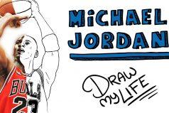 Mira la vida de Michael Jordan en dibujos animados, ¡gran historia!