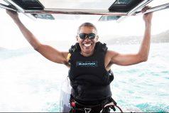 ¡Barack Obama lleva sus vacaciones al extremo! Divertido reto junto al multimillonario Richard Branson en las Islas Vírgenes Británicas