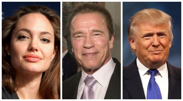 Angelina Jolie y Arnold Schwarzenegger arremeten contra el presidente Donald Trump
