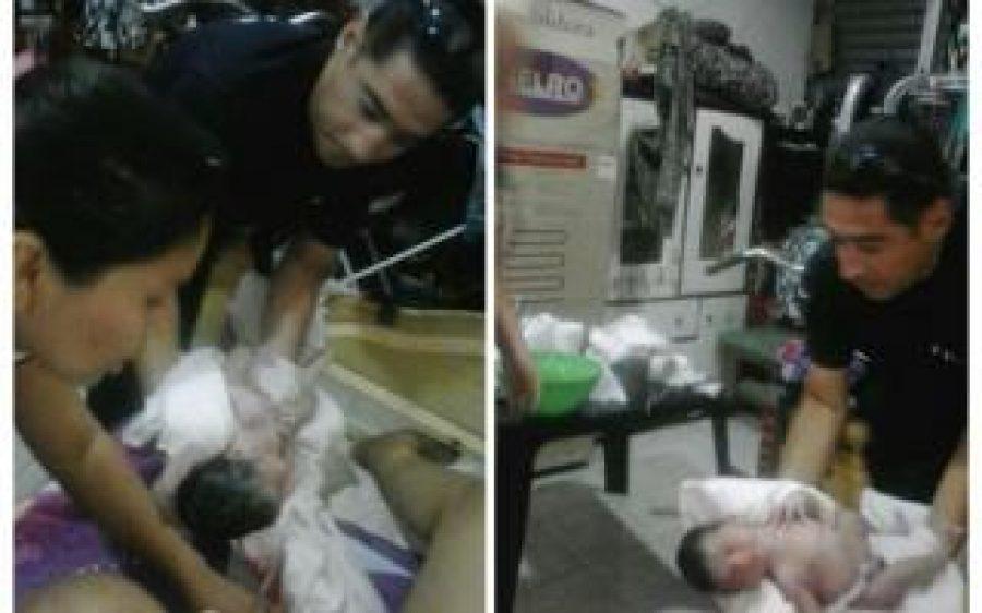 Policías ayudaron a tres mamás a dar a luz a sus bebés