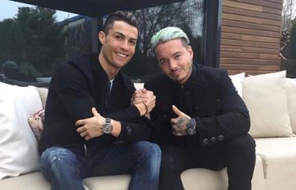 Mira qué hacían Cristiano Ronaldo y J. Balvin juntos