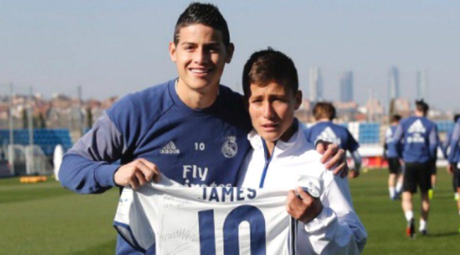 El 'niño ángel del Chapecoense' cumplió su sueño de conocer a James Rodríguez