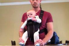 Esto sucede cuándo dejas a tu bebé con papá y él lo pone a bailar como Michael Jackson