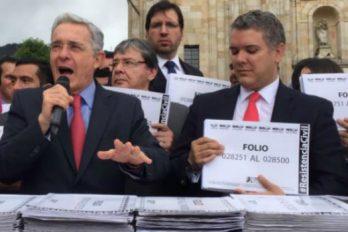 El Centro Democrático lidera 'firmatón' contra los acuerdos de paz