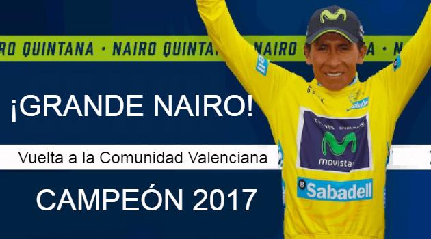Nairo se consagra en España, es el nuevo campeón de la Vuelta a la Comunidad Valenciana