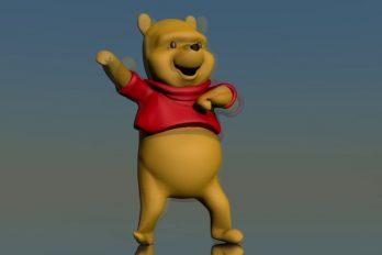 'Inéditas imágenes' de Winnie the Pooh bailando. ¡Qué swing el de nuestro oso favorito!