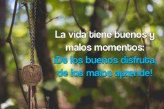 La vida tiene buenos y malos momentos: ¡De los buenos disfruta, de los malos aprende!