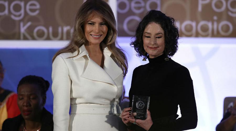 El día que Natalia Ponce recibió el premio internacional a las mujeres valientes