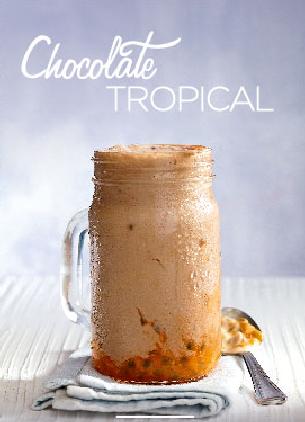 Chocolate Tropical con Maracuya