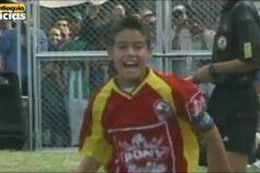 ¿Recuerdas el gol olímpico de James Rodríguez? Así jugaba el crack colombiano… ¡A los 12 años!