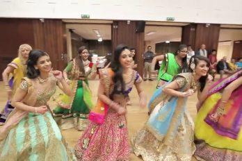 ¡Im-pre-sio-nan-te! El bello performance de esta boda hindú te fascinará. ¡Al mejor estilo Bollywood!