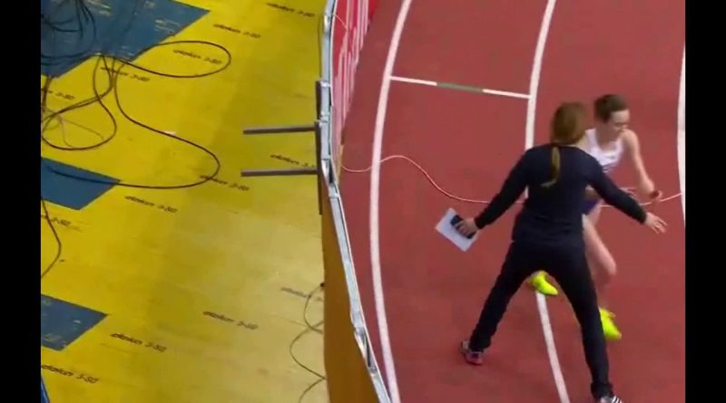 Official-Tries-To-Stop-Winner-Doing-Lap-Of-Honour