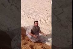 ¿Creías haberlo visto todo? El video de un río de arena en Irak te cautivará. ¿Montaje o fenómeno natural?
