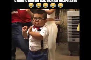 ¡Tienes que verlo! Este chiquitín te enamorará con su baile de 'Despacito'. ¡Qué ternura!