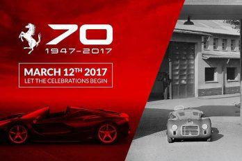 Ferrari celebra 70 años de autos 'Pura Sangre'