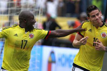 Así se divierten James y Armero en la concentración de la Selección Colombia