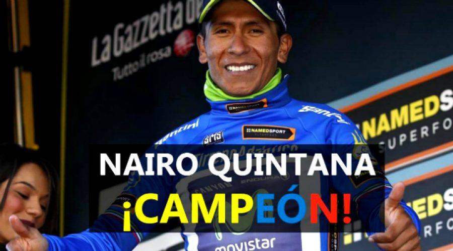 Nairo Quintana quedó campeón en la Tirreno-Adriático
