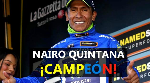 El colombiano Nairo Quintana quedó campeón en la Tirreno-Adriático