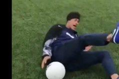 La divertida caída de Neymar Jr. ante las cámaras… ¡Y nadie lo tocó!