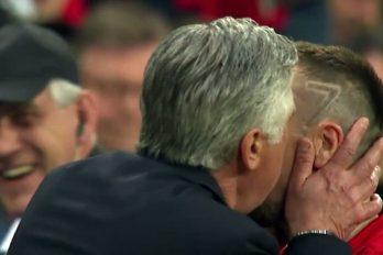 Así demostró Carlo Ancelotti como se trata a un futbolista cuando lo sustituyes. ¡Un ejemplo para Zidane!