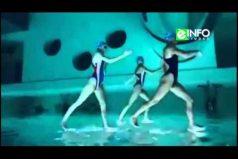 ¿Se puede caminar sobre el agua? Mira el impresionante efecto óptico del equipo italiano de nado sincronizado