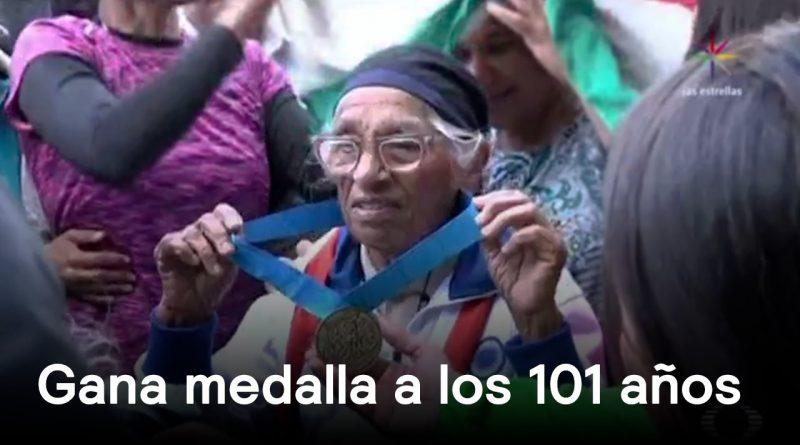 Mujer-de-101-años-gana-medalla-de-oro-Al-Aire-con-Paola