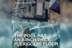 ¡Qué vértigo! Una piscina con el piso transparente… ¡A 150 metros de altura! ¿Nadarías en ella?