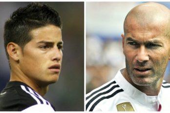 James Rodríguez mejor que Zidane en las primeras dos temporadas con el Madrid