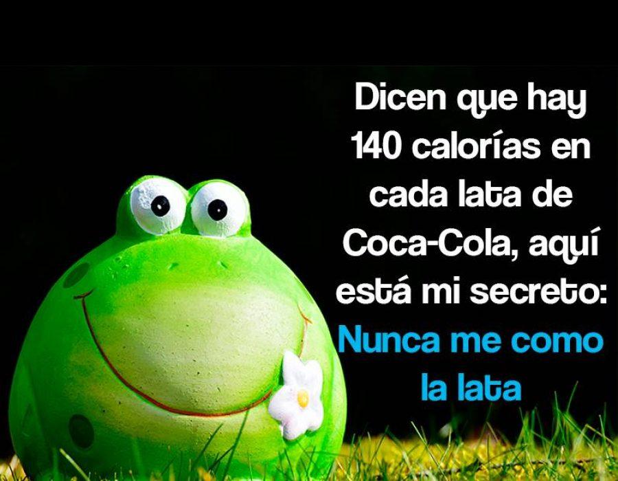 Dicen que hay 140 calorías en cada lata de Coca-Cola