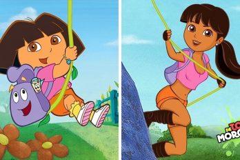 ¿Y si Dora, la exploradora, hubiera crecido? Así lucirían ella y otros personajes de caricaturas