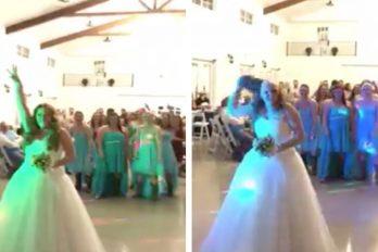¡Qué valiente! Esta novia, que ganó su lucha contra el cáncer, sorprendió a todos con este gesto en su boda