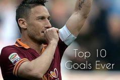 Recuerda las mejores jugadas de Francesco Totti, el eterno '10' de la Roma. ¡Le dice adios al fútbol a los 40 años!