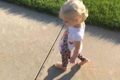 ¡Al mejor estilo de Peter Pan! Mira la eterna lucha de esta pequeña… ¡Con su propia sombra!