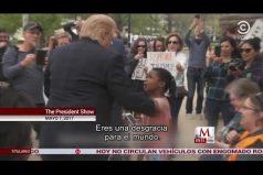 ¡La sinceridad de los niños! Mira como esta pequeña reacciona a 'Donald Trump' cuando intenta abrazarla