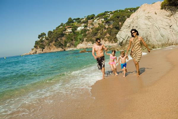 Familia en el mar
