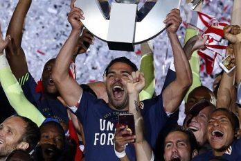 Entre lágrimas Falcao celebró el campeonato con el Mónaco