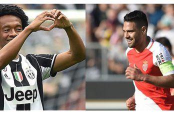 Falcao y Cuadrado dan sus opiniones sobre el duelo Mónaco – Juventus