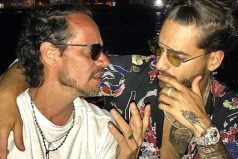 Así fue el beso entre Maluma y Marc Antony que sorprende al mundo
