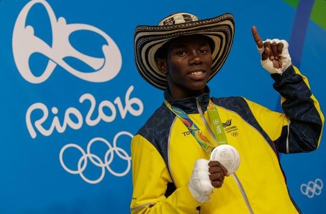 El medallista olímpico Yúberjen Martínez tiene su casa