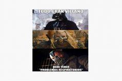Todo gran villano debe tener problemas respiratorios