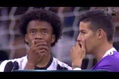 La final de la Champions más colombiana nos dejó a todos un sinsabor. ¡El abrazo de James y Cuadrado lo resume todo!