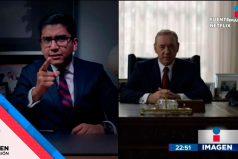 Político mexicano sorprende con emotivo discurso inspirado en 'House of Cards'… ¡Y un personaje de la serie le responde así!
