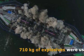 Con más de 700 kilos de explosivos demolieron el puente Nanhu (Changchun, China)… ¡En solo 3 segundos!