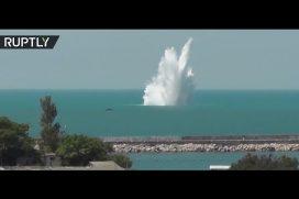 Detonan en la península de Crimea una bomba nazi de 1941. ¡La explosión provocó una impresionante ola de 30 metros!