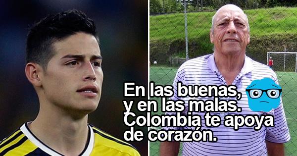 James está de luto, falleció su abuelo. ¡Apoyaste al chef de la Selección y hoy toda Colombia está contigo!