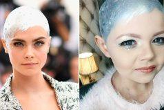 Esta pequeña copió el look de Cara Delevingne cuando perdió su cabello