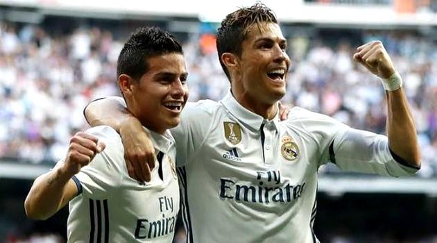 Cristiano da señales que James se va del Madrid